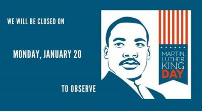 Office Closed - Martin Luther King, Jr. Day