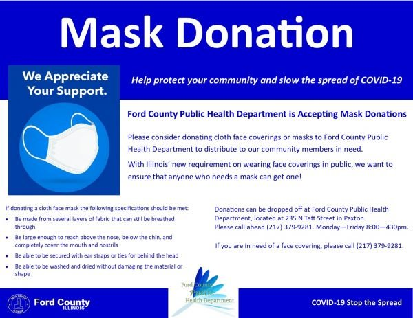 FCPHD Accepting Mask Donations